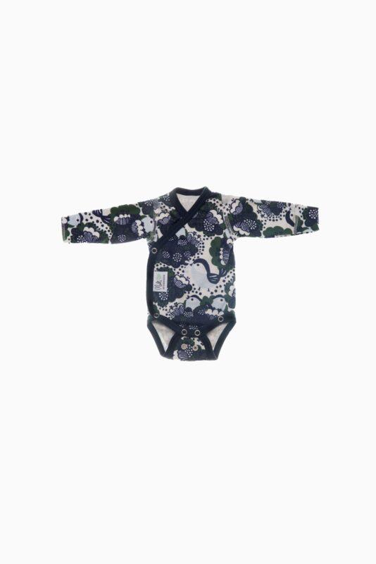 Premature Baby wrap around bodysuit Little Birds 36/40-44/50