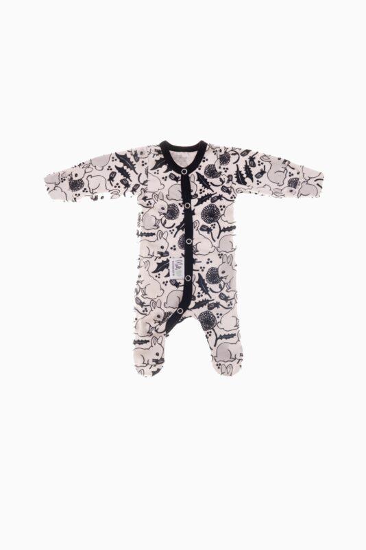 Premature Baby Jumpsuit Bunnies and dandelions 36/40-44/50