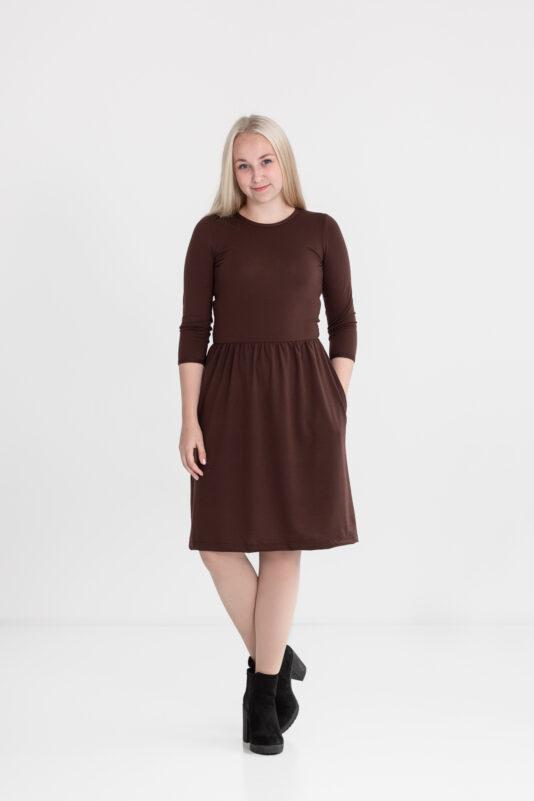 Dress with pockets brown XS-XXL