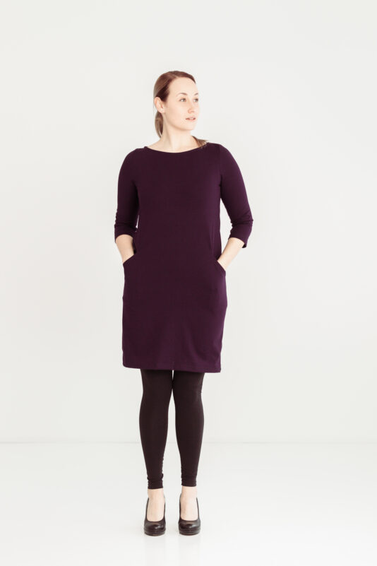 Box dress dark lila XS-XXL