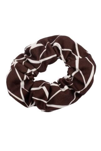 Scrunchie salmiakki ruskea