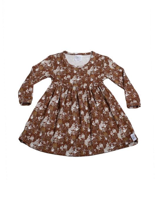 Melli EcoDesign lasten aamukaste ruskea mekko