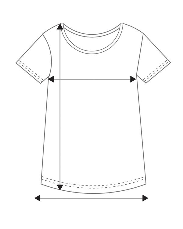 Naisten lyhythihainen Tencel-paita