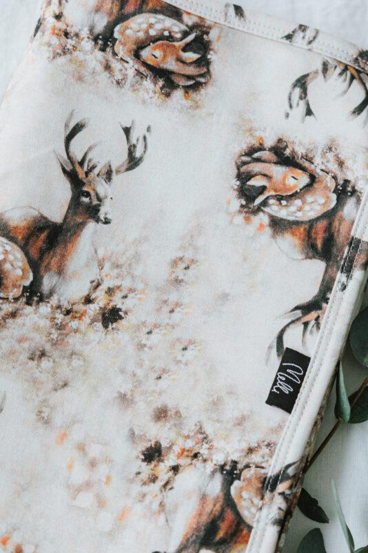 Baby Blanket Bambi Family Light brown