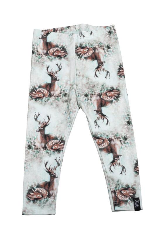 Leggings Bambi family light green 50/56-134/140
