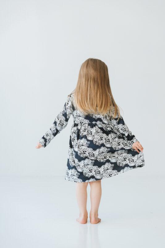 Dress selma dark blue 74/80-134/140