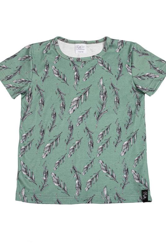 T-Shirt feather eucalyptus 86/92-146/152