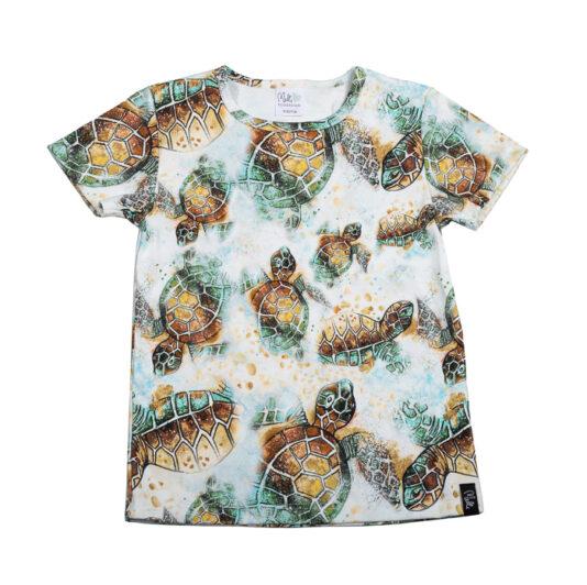 Lasten t-paita kilpikonna