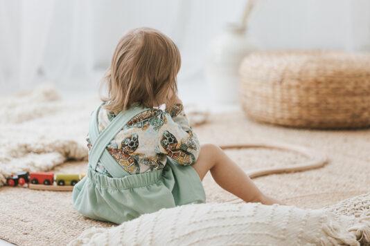 Lasten pitkähihainen paita kilpikonna kuosilla