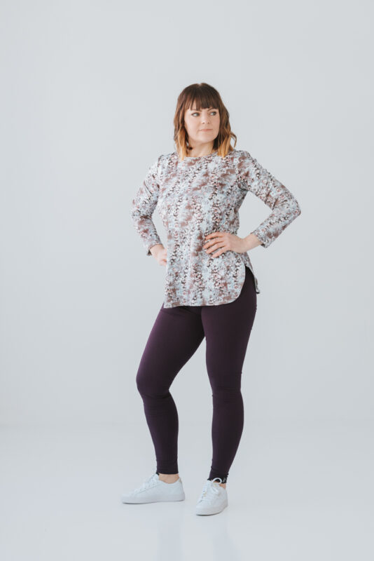 Naisten kuviollinen pitkähihainen paita
