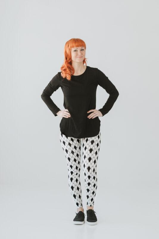 naisten kuviolliset legginsit