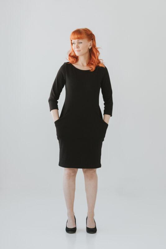 Box dress black XXS-3XL