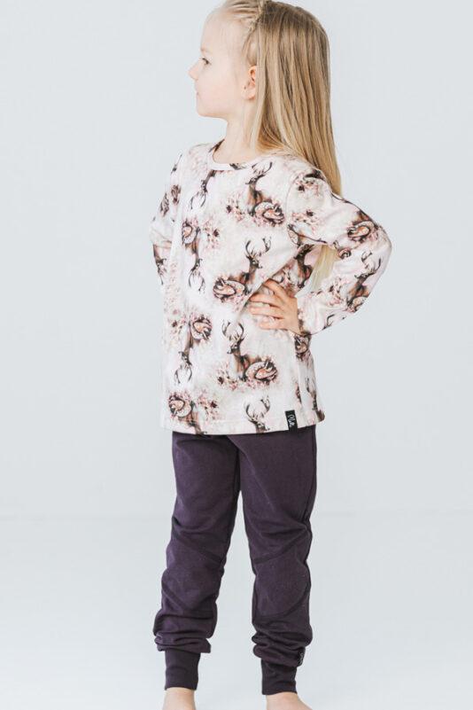 lasten bambiperhe paita vaaleanpunainen