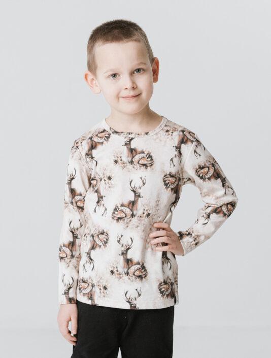 Lasten paita Bambiperhe ruskea