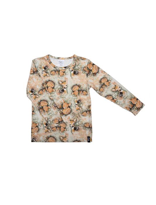 Lasten paita bambit lehtisateessa