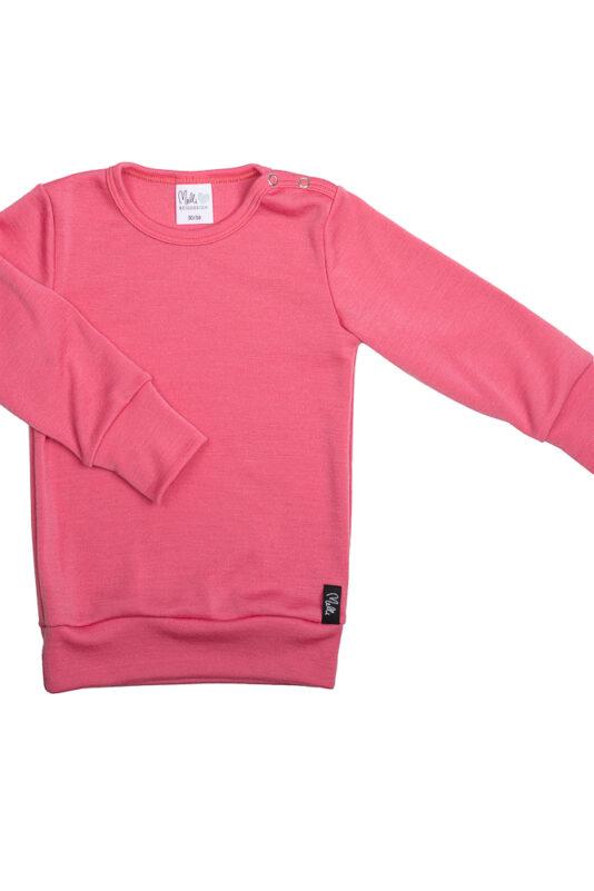 Merinovilla paita pinkki 86/92-134/140